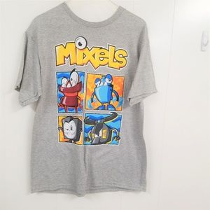 Mixels XL T-Shirt, Gray with colorful design